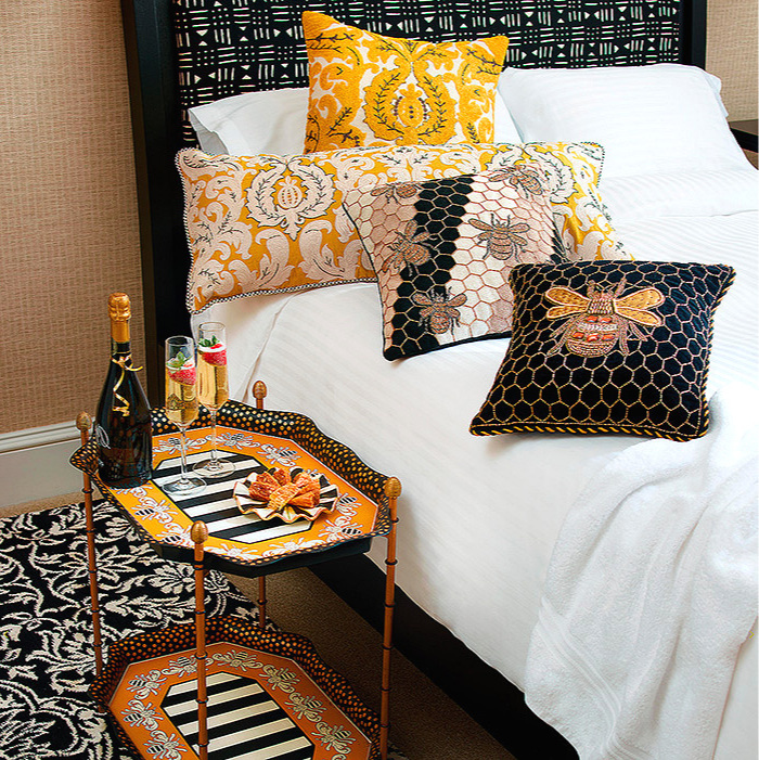 Queen Bee Tray Table, Queen Bee Pillow & Beekeeper Pillow