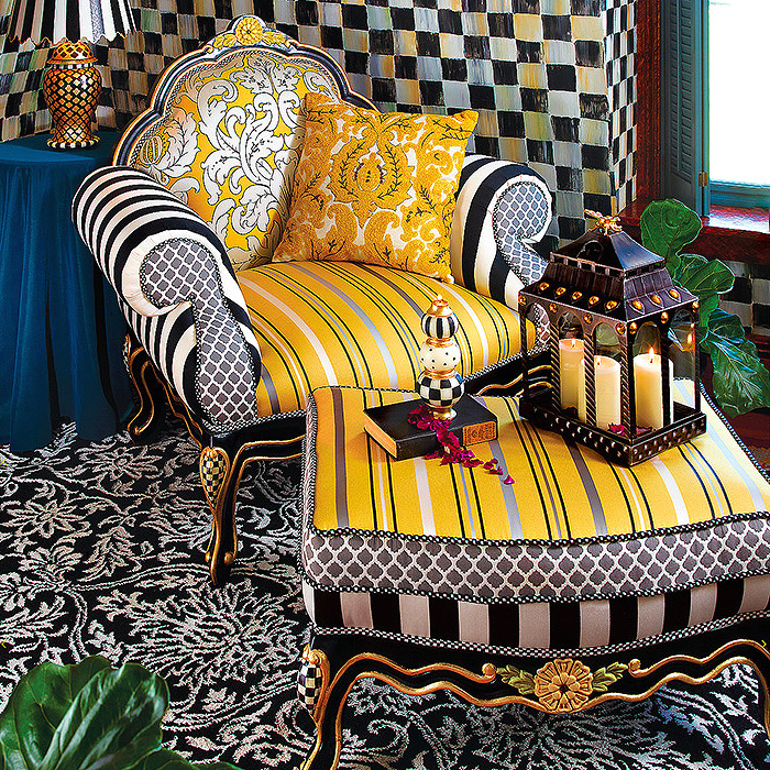 Queen Bee Chair & Ottoman, Nectar Square Pillow
