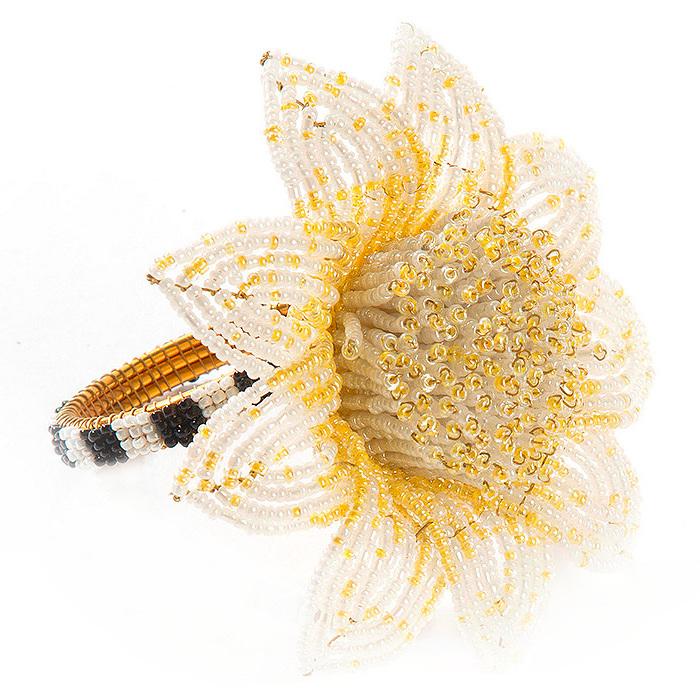 Blossom Napkin Ring - Yellow