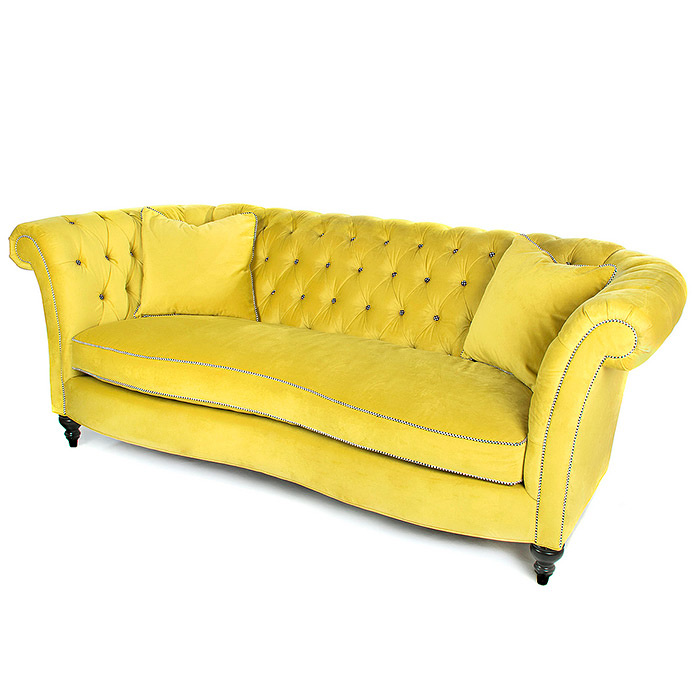 Farmhouse Sofa - Green Grape