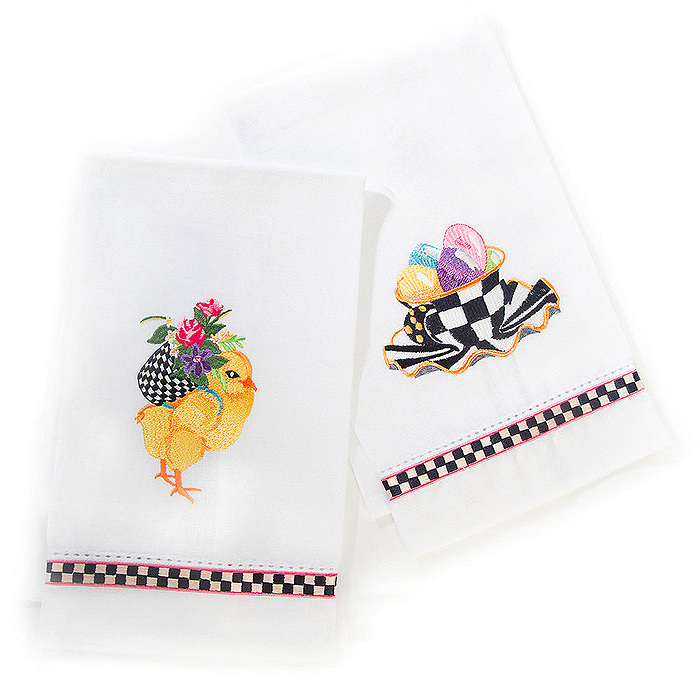 Chicks & Eggs Guest Towels - Set of 2