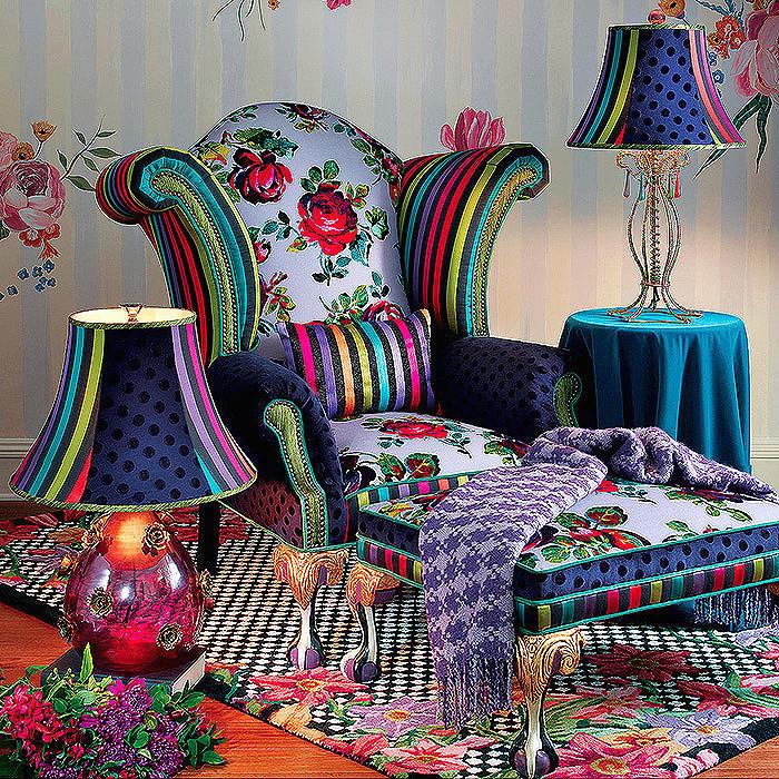 Tivoli Gardens Chair & Ottoman