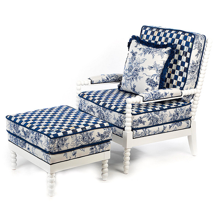 Indigo Villa Outdoor Chair & Ottoman