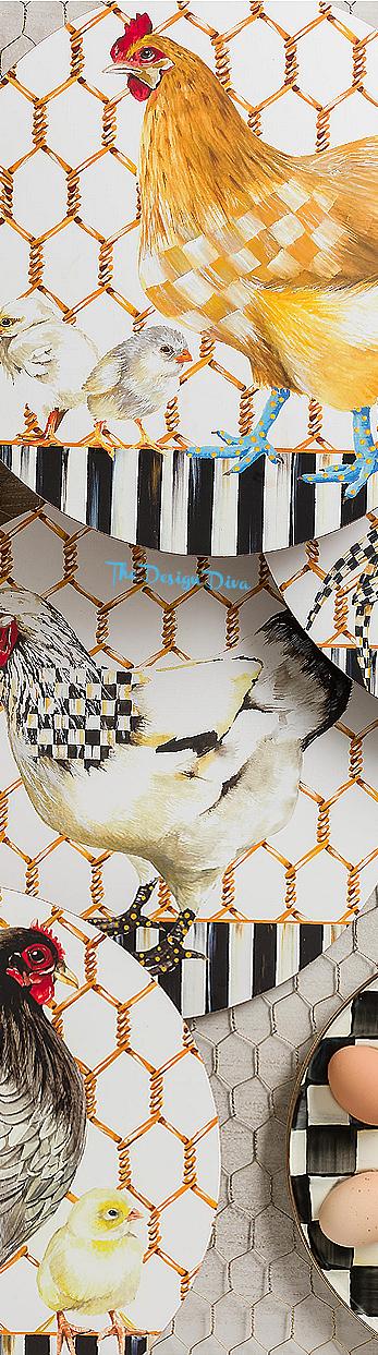 Chicken Coop Placemats - Set of 4 via  The Design Diva