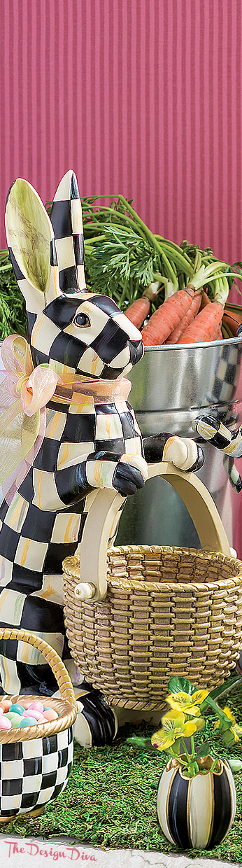 Courtly Check Rabbit & Courtly Check Basket - Small via  The Design Diva