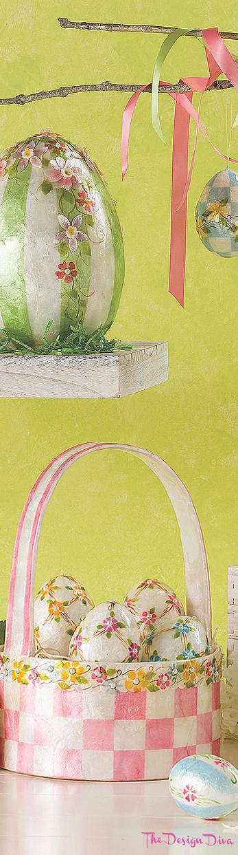 Honeymoon Lattice Eggs - Set of 4 via  The Design Diva