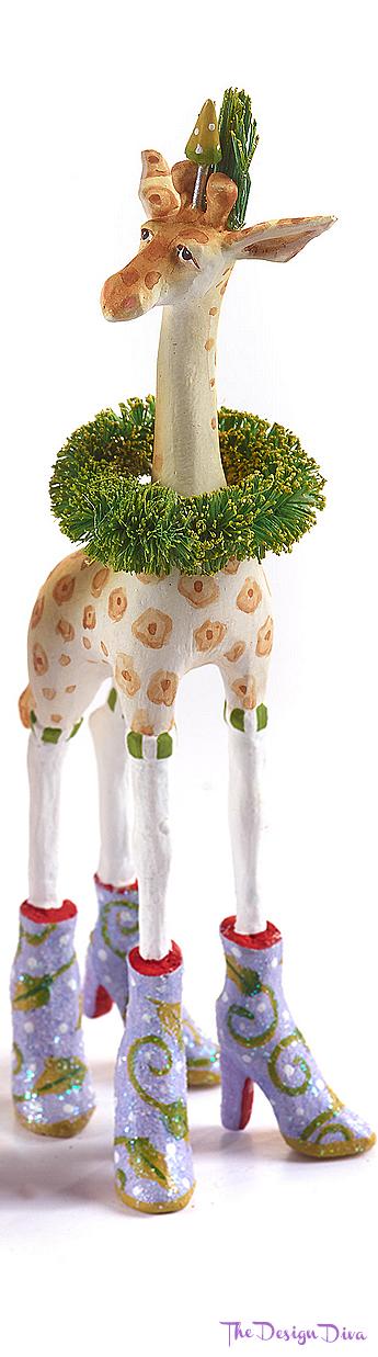 Patience Brewster Jambo Janet Giraffe Mini Ornament via The Design Diva