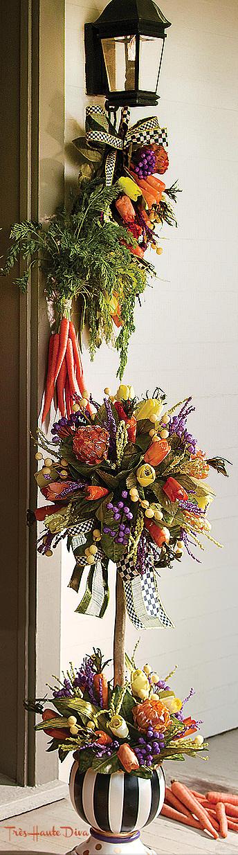 24 Carrot Topiary & Swag via  The Design Diva