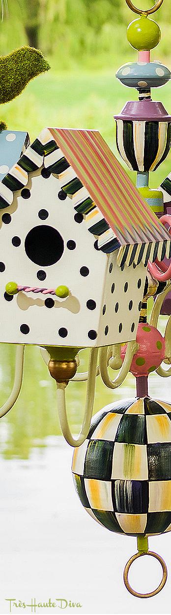 Birdhouse Chandelier via  The Design Diva