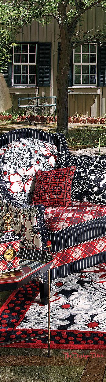 Bond Street Armchair & Baker Street Pillow via  The Design Diva