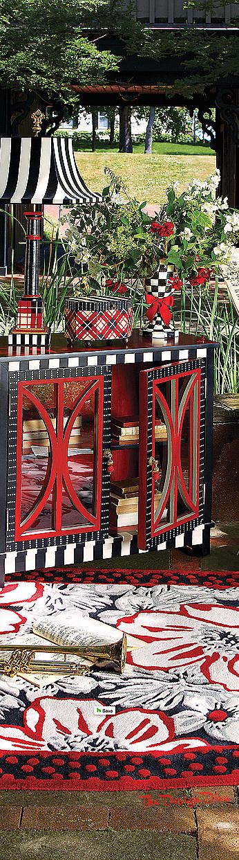 Marylebone Console Cabinet & Marylebone Rug via  The Design Diva