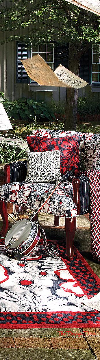 High Street Accent Chair & Marylebone Rug via  The Design Diva