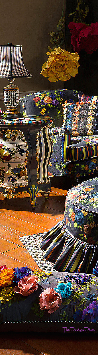 Covent Garden Wing Chair & Accent Chest via  The Design Diva