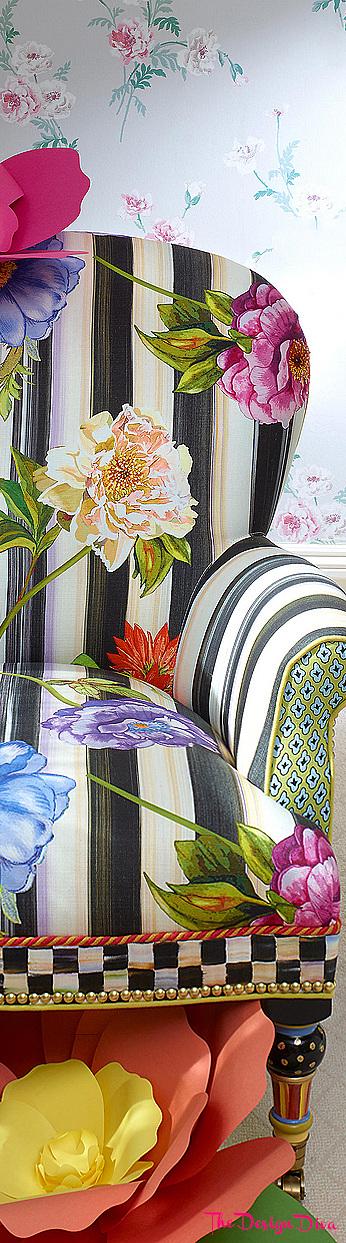 Cutting Garden Accent Chair via  The Design Diva