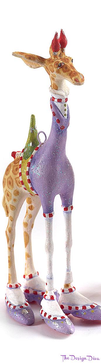 Patience Brewster Jambo George Giraffe Mini Ornament via  The Design Diva