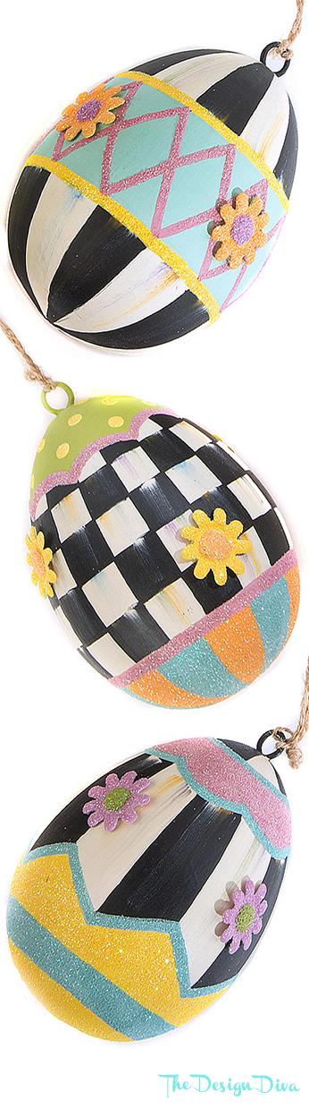 Eggstra Special Ornaments - Set of 3 via  The Design Diva