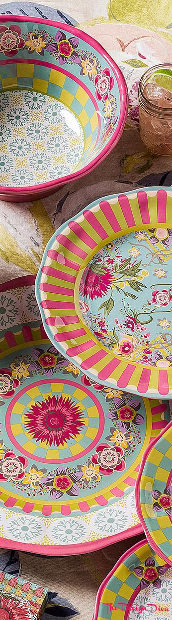 Florabundance Dinner Plates - Set of 4 via  The Design Diva