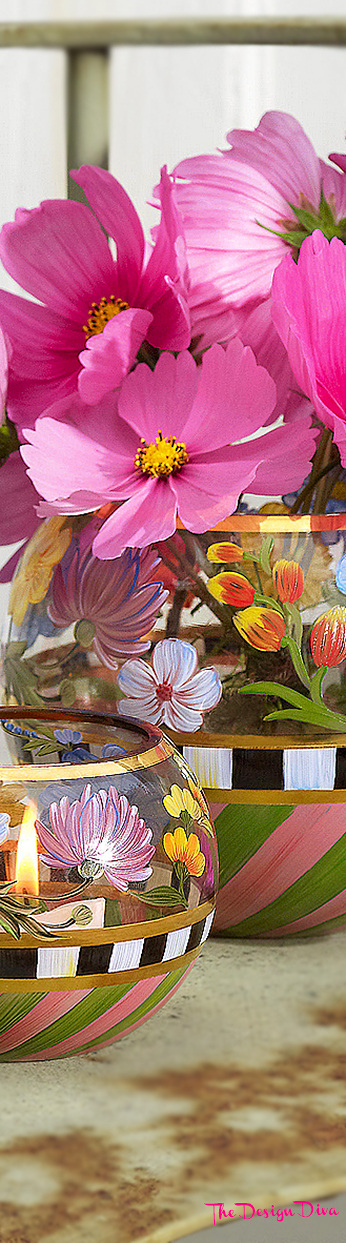 Flower Market Glass Globe Vases via  The Design Diva