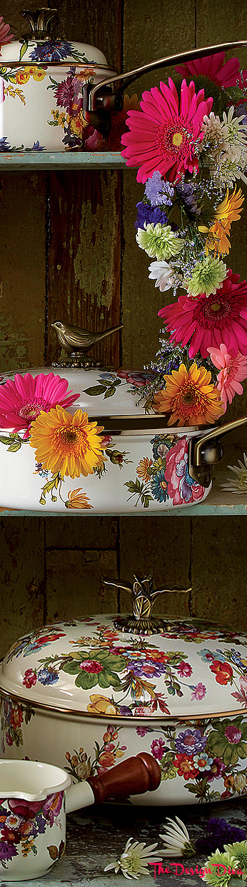Flower Market White via  The Design Diva