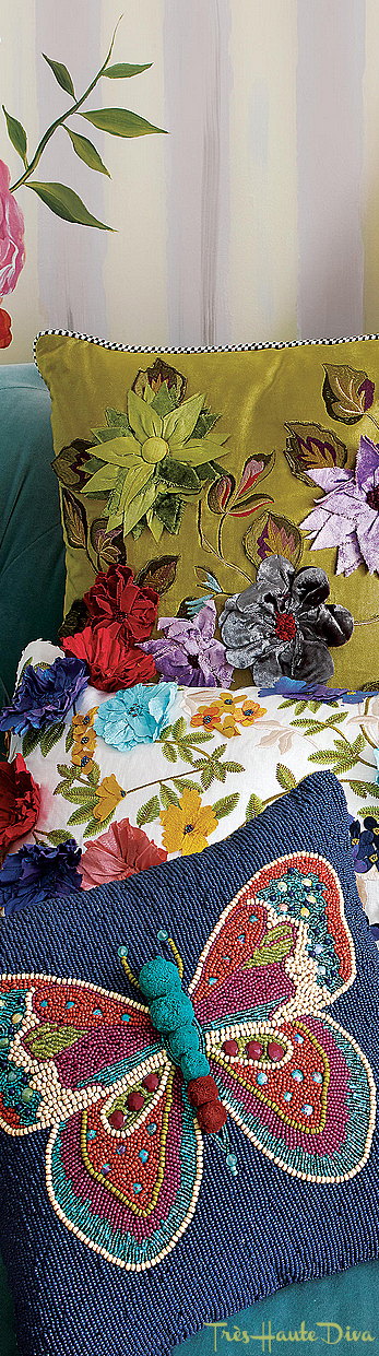 Boheme Butterfly Pillow via  The Design Diva