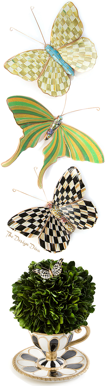Butterfly Teacup & Butterfly Trio - Meadow via  The Design Diva