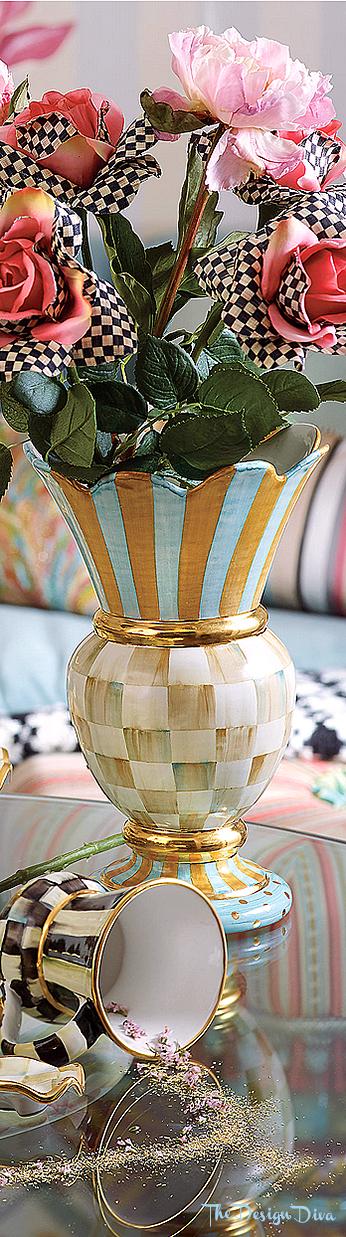 Parchment Check Great Vase via  The Design Diva