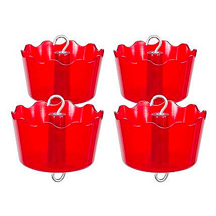 BestNest Four Pack of Audubon Defendant Ant Guards, Red