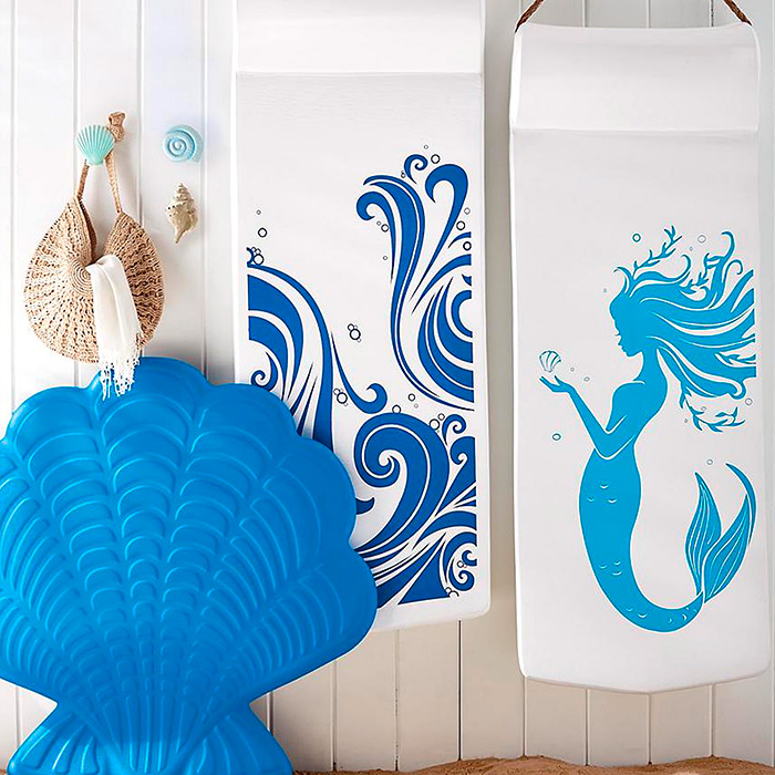 Resort Pool Float in Crashing Waves Print & Laguna Shell Float
