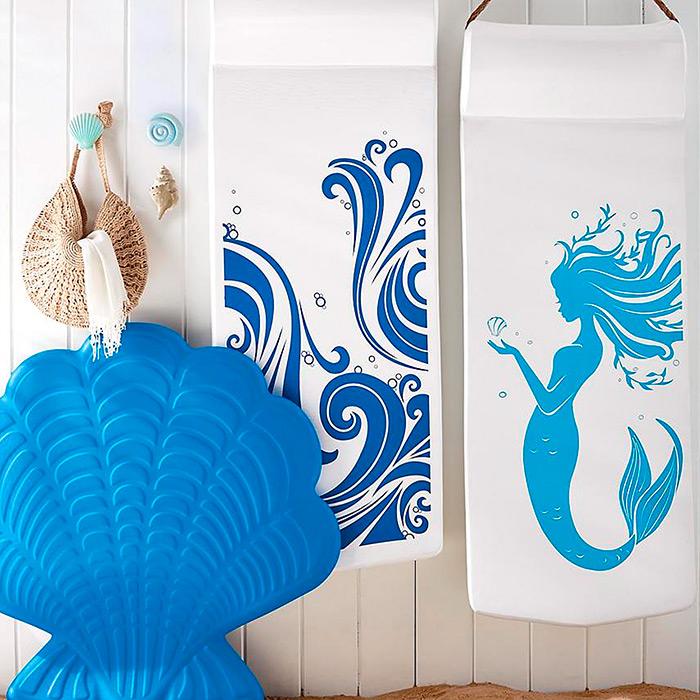 Resort Pool Float in Crashing Waves Print & Laguna Shell Float
