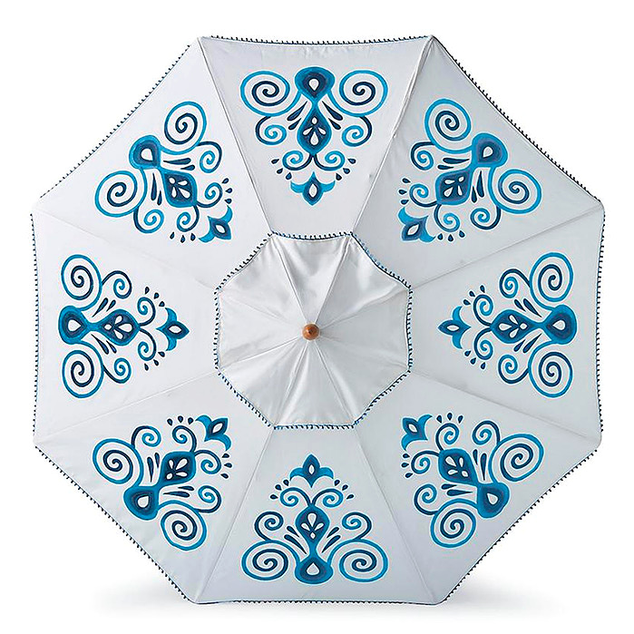 Resort Chic Indigo Designer Umbrella