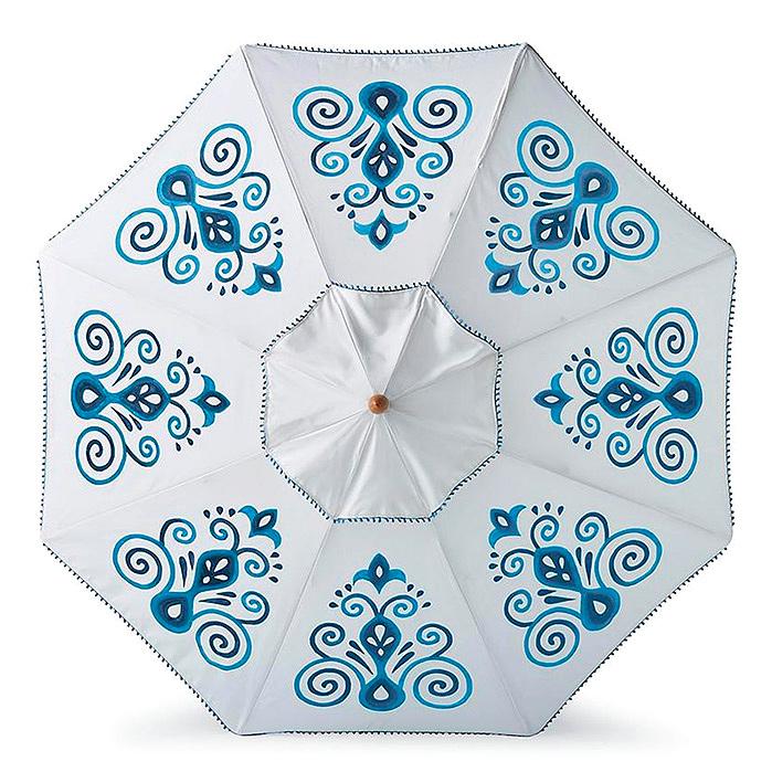 Resort Chic Indigo Designer Umbrella