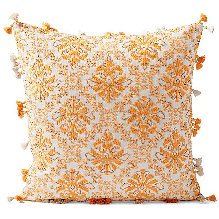 Kaia Decorative Pillow Cover in Mustard