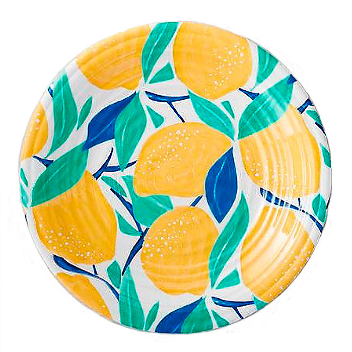 Citrus Grove Melamine Side Plates, Set of Four