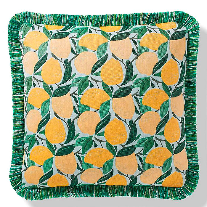 Tossed Citrus Lemon Indoor/Outdoor Pillow