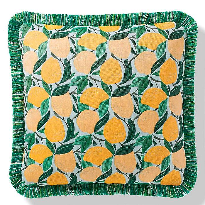 Tossed Citrus Lemon Indoor/Outdoor Pillow