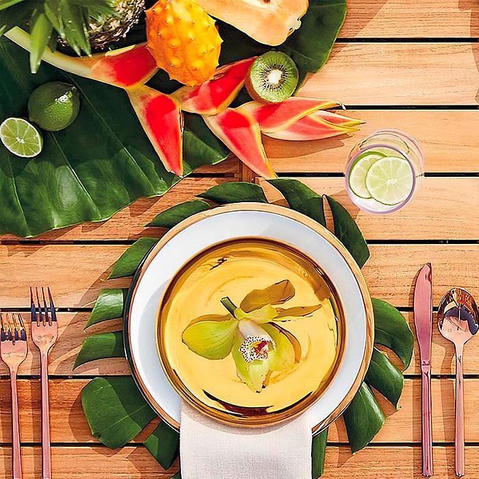 Golden Dinnerware