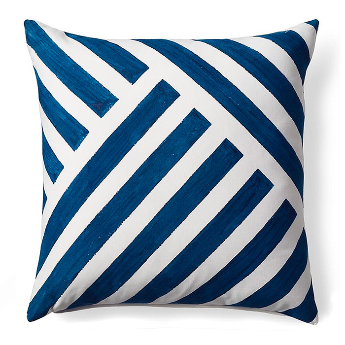 Linework Cobalt Outdoor Pillow