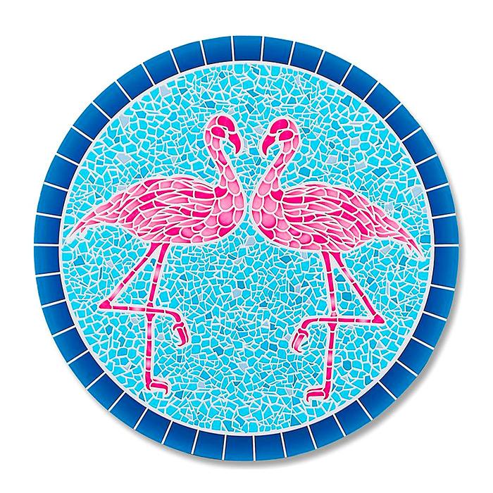 Flamingo Mosaic In-pool Mat