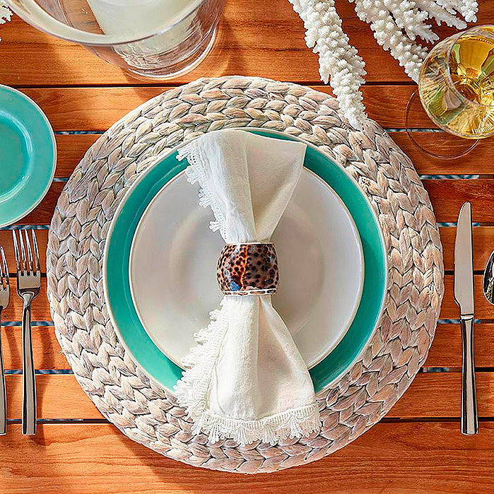 Water Hyacinth Placemats, Set of Four