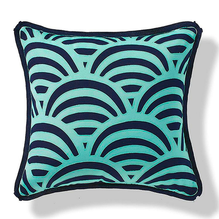 Scalloped Overlay Pillow