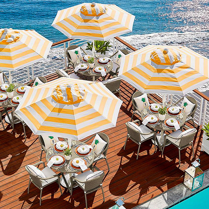 9' Round Outdoor Market Umbrella & Cafe Dining Collection