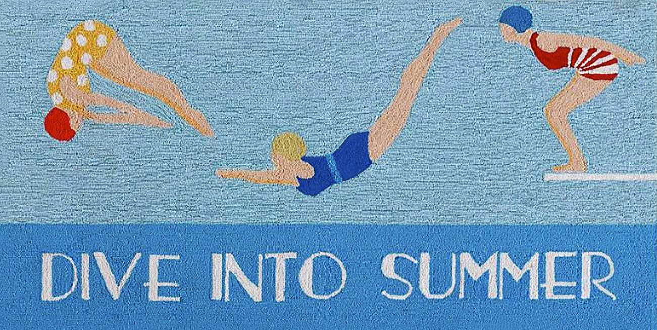 Dive Into Summ er Door Mat