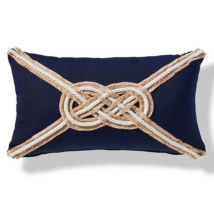 Carrick Bend Knot Outdoor Pillow