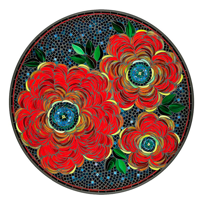 KNF - Neille Olson Mosaics Zinnia Collection