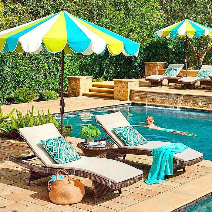 Gianna Designer Umbrella in Gingko Aruba