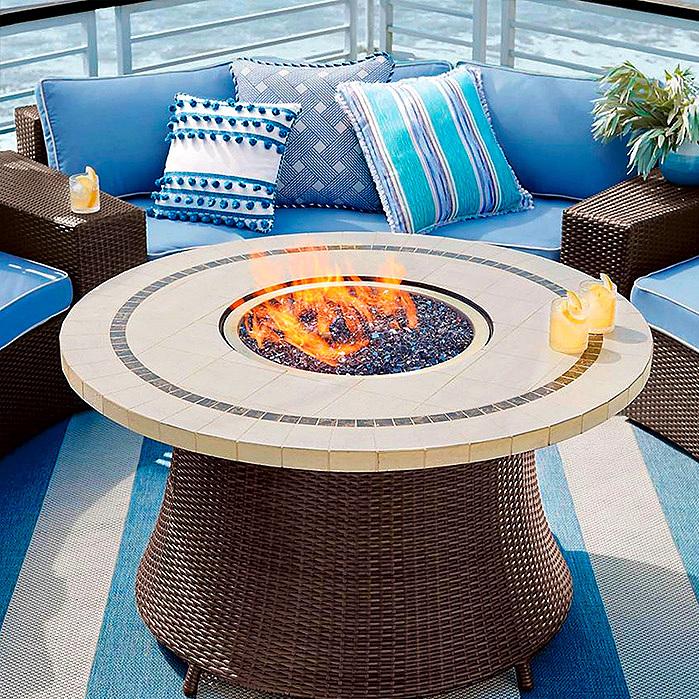 Pasadena Stone Top Fire Table
