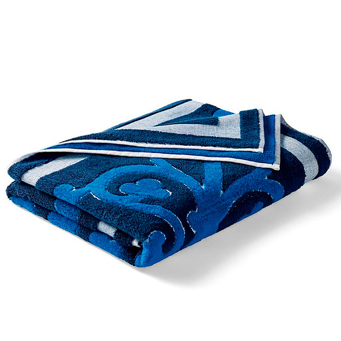 Resort Tile Beach Towel in Navy