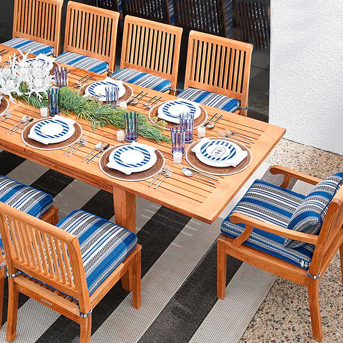 Cassara Teak Dining Expandable Table in Natural Finish