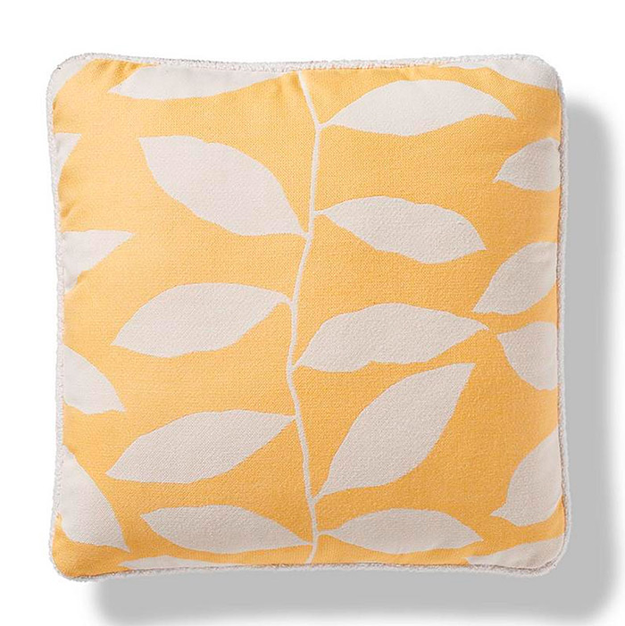 Vine Silhouette Indoor/Outdoor Pillow in Sunshine