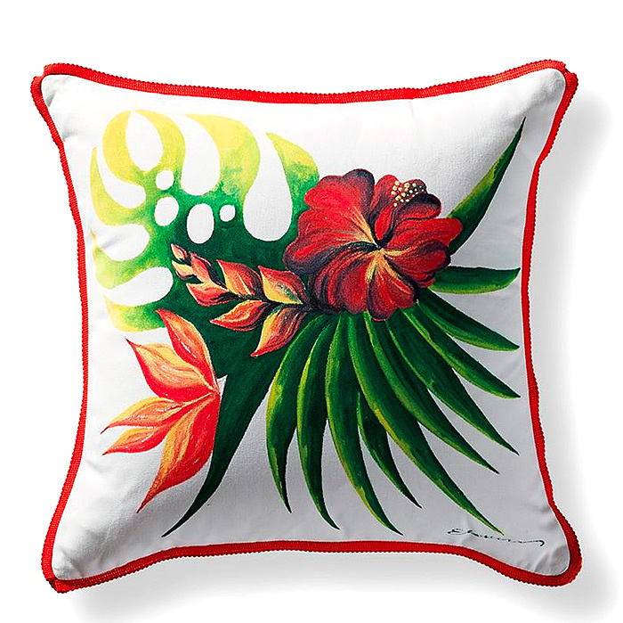 Jungle Blooms Outdoor Pillow